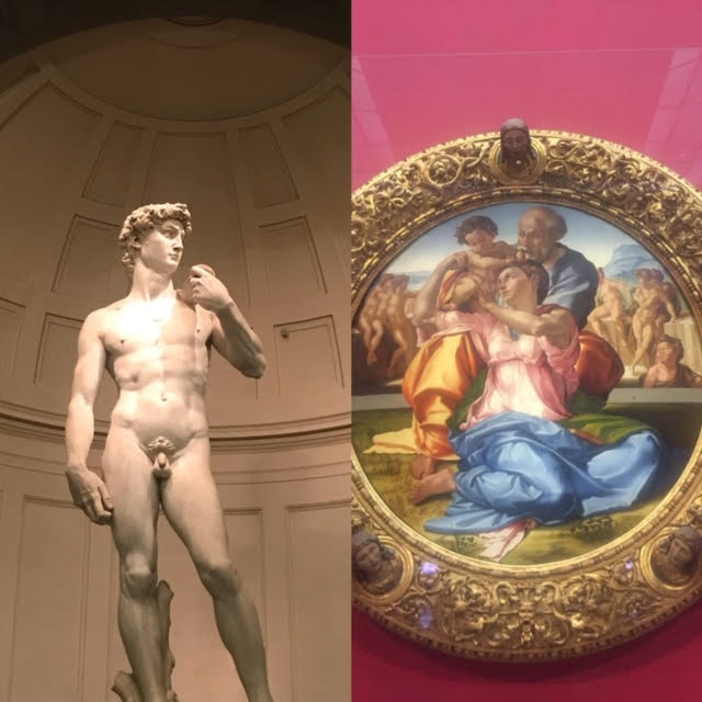 Where to see Michelangelo's works in Florence